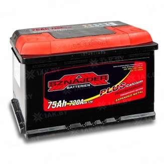 Аккумулятор SZNAJDER (75 Ah) 720 A, 12 V Прямая, L+ 0