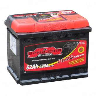 Аккумулятор SZNAJDER (62 Ah) 520 A, 12 V Обратная, R+ 0