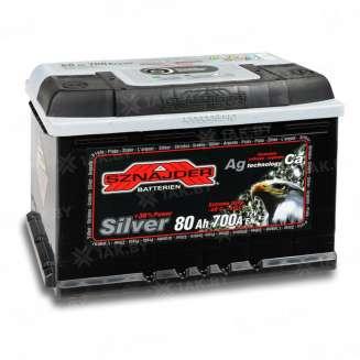 Аккумулятор SZNAJDER (80 Ah) 700 A, 12 V Обратная, R+ 0