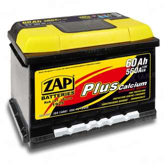 Аккумулятор ZAP (60 Ah) 560 A, 12 V Прямая, L+ 0