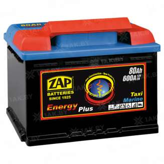 Аккумулятор ZAP (80 Ah) 600 A, 12 V Обратная, R+ 0