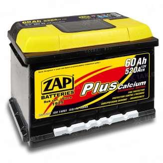 Аккумулятор ZAP (60 Ah) 520 A, 12 V Обратная, R+ 0