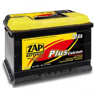 Аккумулятор ZAP (70 Ah) 610 А, 12 V Обратная, R+ 0