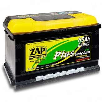Аккумулятор ZAP (65 Ah) 640 A, 12 V Обратная, R+ 0