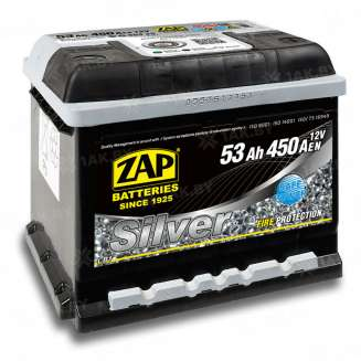 Аккумулятор ZAP (53 Ah) 450 A, 12 V Обратная, R+ 0