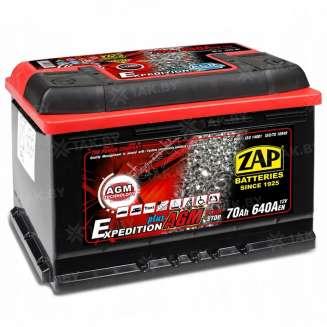 Аккумулятор ZAP (70 Ah) 640 A, 12 V Обратная, R+ 0