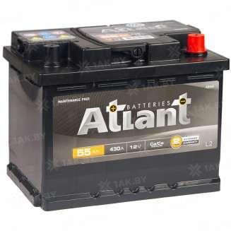 Аккумулятор ATLANT (55 Ah) 430 A, 12 V Обратная, R+ 2