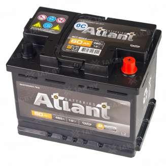 Аккумулятор ATLANT (60 Ah) 460 A, 12 V Обратная, R+ 2