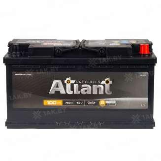 Аккумулятор ATLANT (100 Ah) 760 A, 12 V Обратная, R+ 1