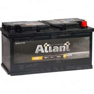 Аккумулятор ATLANT (100 Ah) 760 A, 12 V Обратная, R+ 2