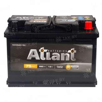 Аккумулятор ATLANT (75 Ah) , 12 V Обратная, R+ 1