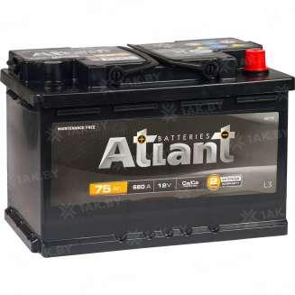 Аккумулятор ATLANT (75 Ah) , 12 V Обратная, R+ 2