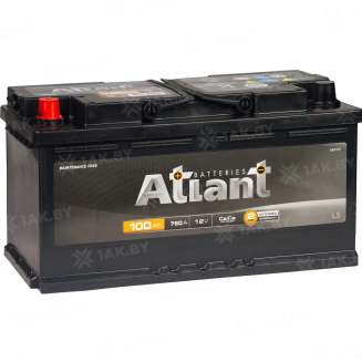 Аккумулятор ATLANT (100 Ah) 760 A, 12 V Прямая, L+ 0