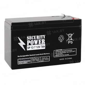 Аккумулятор Security Power (7 Ah) , 12 V 0