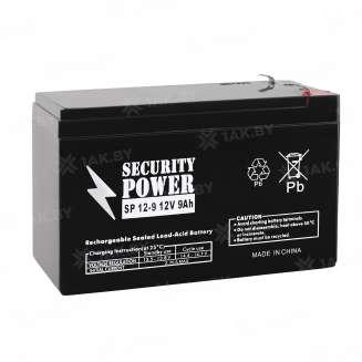 Аккумулятор Security Power (9 Ah) , 12 V 0