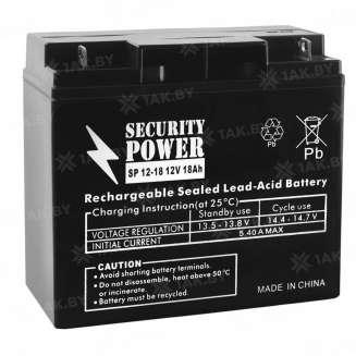 Аккумулятор Security Power (18 Ah) , 12 V 0