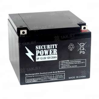 Аккумулятор Security Power (26 Ah) , 12 V 0