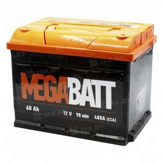 Аккумулятор MEGA BATT (60 Ah) 480 A, 12 V Обратная, R+ 0