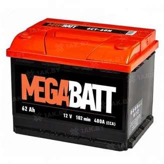 Аккумулятор MEGA BATT (62 Ah) 480 A, 12 V Обратная, R+ 0