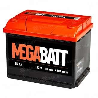 Аккумулятор MEGA BATT (55 Ah) 420 A, 12 V Обратная, R+ 0