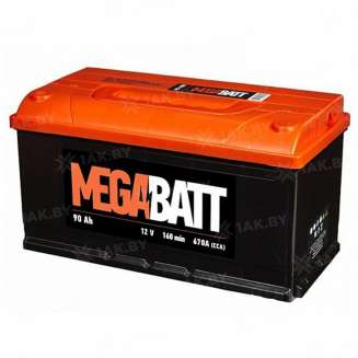 Аккумулятор MEGA BATT (90 Ah) 670 A, 12 V Обратная, R+ 0