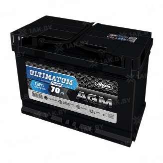 Аккумулятор ULTIMATUM (70 Ah) 760 A, 12 V Обратная, R+ 0