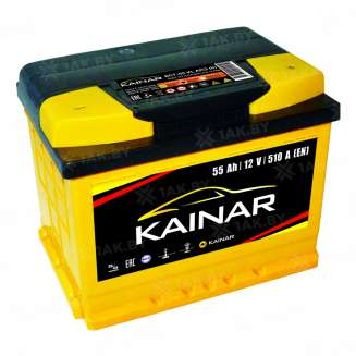 Аккумулятор KAINAR (55 Ah) 510 A, 12 V Обратная, R+ 0