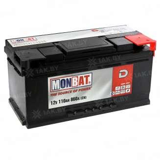 Аккумулятор MONBAT (110 Ah) 860 A, 12 V Обратная, R+ 0