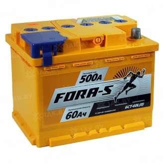 Аккумулятор FORA-S (60 Ah) 500 A, 12 V Обратная, R+ 0