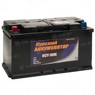 Аккумулятор Курский (90 Ah) 760 A, 12 V Прямая, L+ 0
