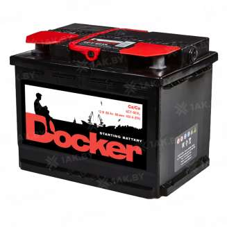 Аккумулятор DOCKER (60 Ah) 450 A, 12 V Обратная, R+ 0