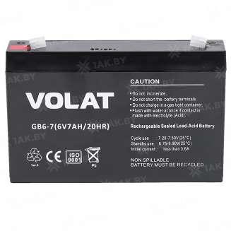 Аккумулятор VOLAT (7 Ah) , 6 V 0