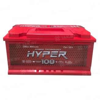 Аккумулятор HYPER (100 Ah) 860 A, 12 V Обратная, R+ 0