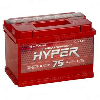 Аккумулятор HYPER (75 Ah) 700 A, 12 V Обратная, R+ 0