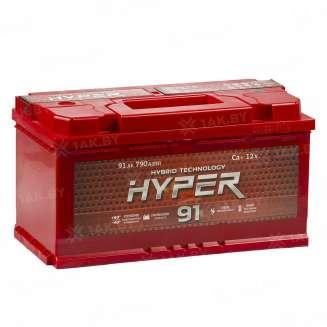 Аккумулятор HYPER (91 Ah) 790 A, 12 V Обратная, R+ 0
