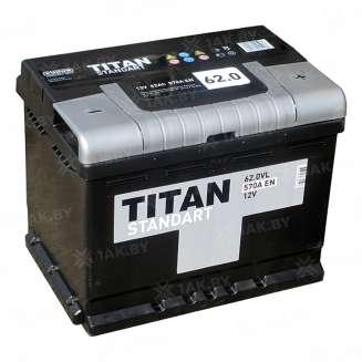 Аккумулятор TITAN (62 Ah) 570 A, 12 V Обратная, R+ 0