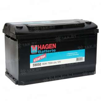 Аккумулятор HAGEN (90 Ah) 720 A, 12 V Обратная, R+ 0