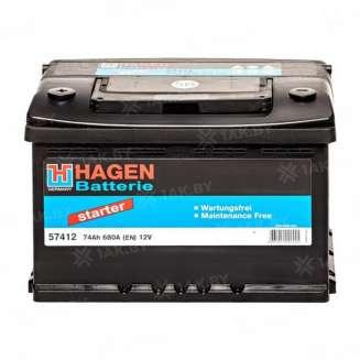 Аккумулятор HAGEN (74 Ah) 680 A, 12 V Обратная, R+ 0