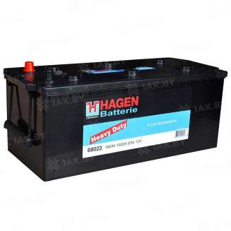 Аккумулятор HAGEN (180 Ah) 1000 A, 12 V Прямая, L+ 0