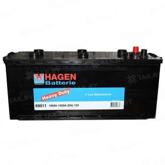 Аккумулятор HAGEN (190 Ah) 1000 A, 12 V Боковое расположение 0