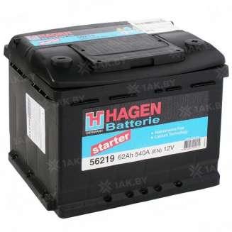 Аккумулятор HAGEN (62 Ah) 540 A, 12 V Обратная, R+ 0