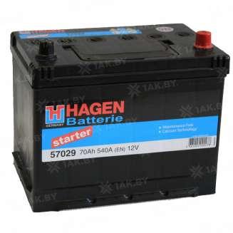 Аккумулятор HAGEN (70 Ah) 670 A, 12 V Обратная, R+ 0
