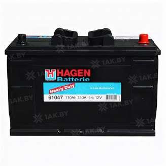 Аккумулятор HAGEN (110 Ah) 750 A, 12 V Обратная, R+ 0
