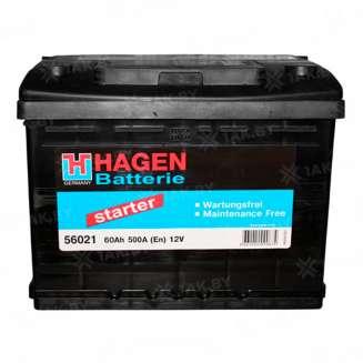 Аккумулятор HAGEN (60 Ah) 500 A, 12 V Обратная, R+ 0