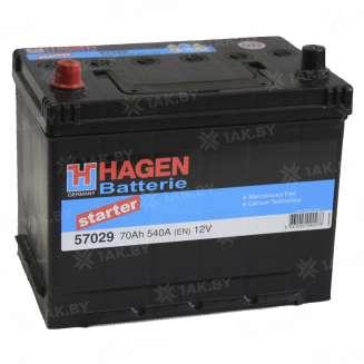 Аккумулятор HAGEN (70 Ah) 540 A, 12 V Обратная, R+ 0