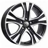 Литой диск Реплика КС673 (ZV Audi A4) КС673 7x17 5x112 DIA66,6 ET46 алмаз черный