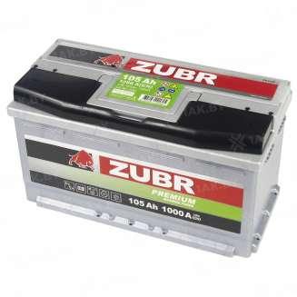 Аккумулятор ZUBR (105 Ah) 1000 A, 12 V Обратная, R+ 5