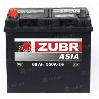 Аккумулятор ZUBR (60 Ah) 550 A, 12 V Прямая, L+ 2