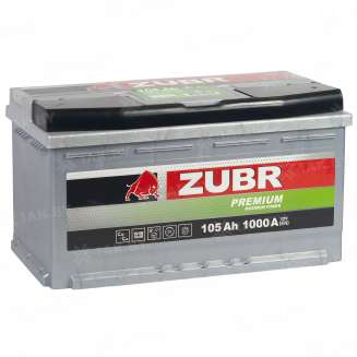 Аккумулятор ZUBR (105 Ah) 1000 A, 12 V Обратная, R+ 6
