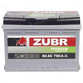 Аккумулятор ZUBR (80 Ah) 780 A, 12 V Прямая, L+ 6
